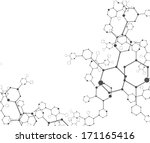 molecular structures background ... | Shutterstock .eps vector #171165416