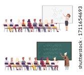 professors giving task ...   Shutterstock .eps vector #1711654693