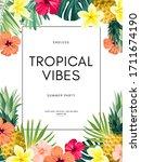 vector summer design with... | Shutterstock .eps vector #1711674190
