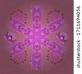 multicolopink  violet and... | Shutterstock .eps vector #1711694056