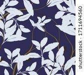 beautiful seamless floral... | Shutterstock .eps vector #1711694560