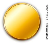 round golden medal with shadow. | Shutterstock . vector #171172028