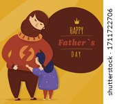 happy father day with daughter  ...   Shutterstock .eps vector #1711722706