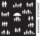 people and family icons set   Shutterstock . vector #1711726663