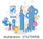 career growth  businessman ...   Shutterstock .eps vector #1711744936