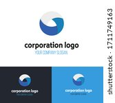 abstract circle business logo... | Shutterstock .eps vector #1711749163
