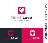 logo with heart. love concept... | Shutterstock .eps vector #1711749199