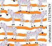 zebra  animal  fashion  ... | Shutterstock .eps vector #1711749679