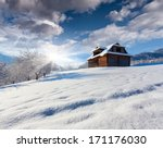 old house in the mountain... | Shutterstock . vector #171176030