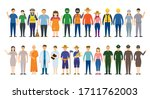 group of thai people various... | Shutterstock .eps vector #1711762003
