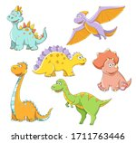 cute childish cartoon colorful... | Shutterstock . vector #1711763446