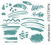 set of brush strokes and... | Shutterstock .eps vector #1711773976