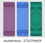 set of design yoga mats. floral ...   Shutterstock .eps vector #1711796659