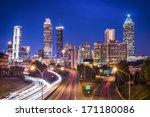 Atlanta  Georgia  Usa Skyline...