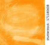 orange abstract watercolor...   Shutterstock . vector #171180608