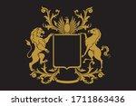 a coat of arms crest heraldic... | Shutterstock .eps vector #1711863436