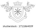 a coat of arms crest heraldic... | Shutterstock .eps vector #1711864039