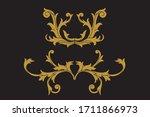 heraldic medieval floral... | Shutterstock .eps vector #1711866973