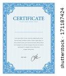 template border diplomas ... | Shutterstock .eps vector #171187424