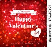 valentine's day design template | Shutterstock .eps vector #171187604