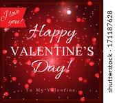 valentine s day design template | Shutterstock .eps vector #171187628