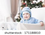 portrait of a happy young child | Shutterstock . vector #171188810