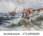 A Series Of Ships  Seascape....