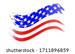 brushstroke usa flag  vector... | Shutterstock .eps vector #1711896859