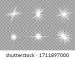 white glowing light explodes on ... | Shutterstock .eps vector #1711897000