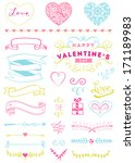valentine's day and wedding... | Shutterstock .eps vector #171189983