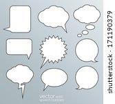 blank empty white speech...   Shutterstock .eps vector #171190379
