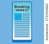 breaking news on smart phone...