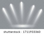 a collection of stage lighting. ... | Shutterstock .eps vector #1711933360