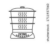 food steamer outline vector... | Shutterstock .eps vector #1711937560