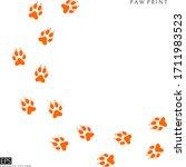 fox paw prints. silhouette....   Shutterstock .eps vector #1711983523