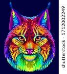 lynx. abstract  neon ... | Shutterstock .eps vector #1712002249