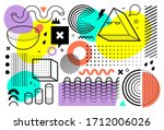 memphis style abstract vector... | Shutterstock .eps vector #1712006026