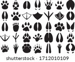 paw print animal paws dog paw...   Shutterstock .eps vector #1712010109