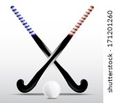 two sticks for field hockey and ... | Shutterstock .eps vector #171201260
