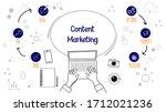 content marketing vector...   Shutterstock .eps vector #1712021236