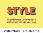 alphabet font  shadow effect ... | Shutterstock .eps vector #1712021716