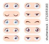big set of animation funny... | Shutterstock .eps vector #1712053183