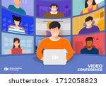 illustrations flat design... | Shutterstock .eps vector #1712058823