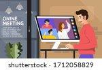 illustrations flat design... | Shutterstock .eps vector #1712058829