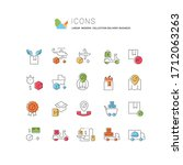 set of vector line icons of...   Shutterstock .eps vector #1712063263
