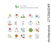 set of vector line icons of...   Shutterstock .eps vector #1712063269