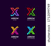 letter x logotype with arrows... | Shutterstock .eps vector #1712099749
