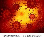 cartoon corona viruses under... | Shutterstock .eps vector #1712119120
