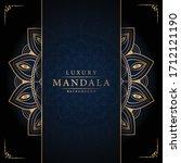 luxury mandala background with...   Shutterstock .eps vector #1712121190