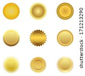 gold medal  | Shutterstock . vector #171213290